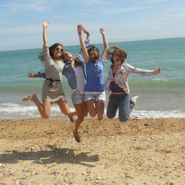 Afternoon activities of the ACCORD ISS Day student programme in Eastbourne.